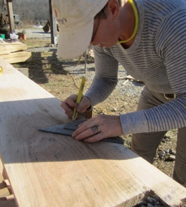Squaring off the end of a siding board