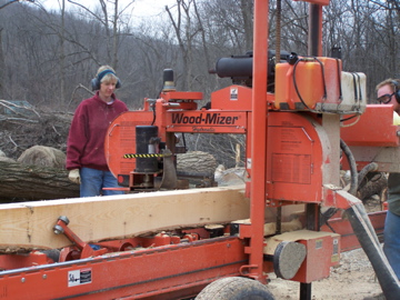 "Milling an 8""x8"" post for the barn"