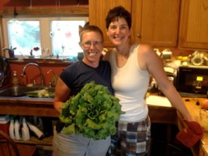 Katie & Liz with a head of summer lettuce