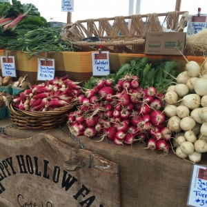 Early spring market stall