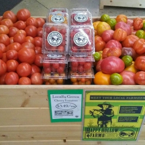 Summer Natural Grocers tomato display