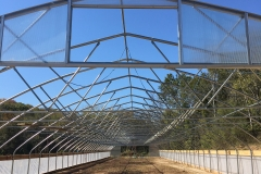 View of the trusses