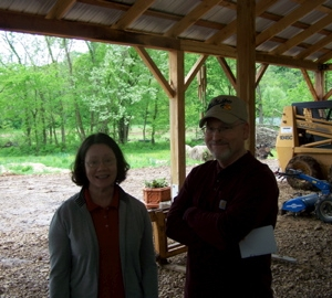 Suzan & Jim hanging out in the barn