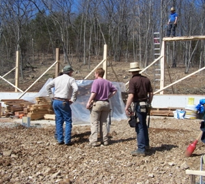 Discussing which beam goes up next
