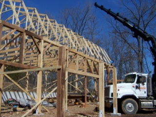 The trusses are up!