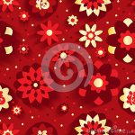Chinese Flower New Year Graphic